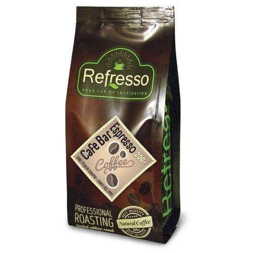 Кофе молотый Refresso Cafe Bar Espresso, 200 г кофе индийский молотый espresso blend hindica 200 г