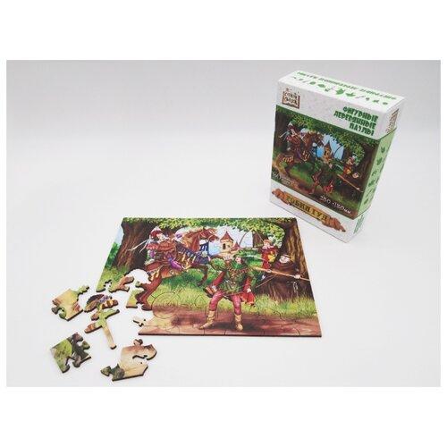 Купить Страна сказок Фигурный деревянный пазл Робин Гуд , Нескучные игры, Пазлы