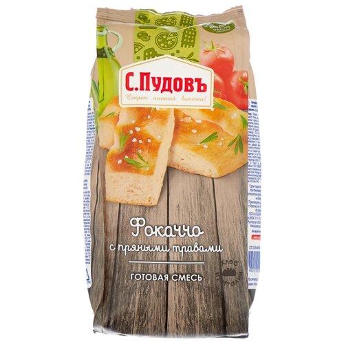 С.Пудовъ Мучная смесь Фокаччо с пряными травами, 0.4 кг пудовъ морковный хлеб с пряными травами 500 г