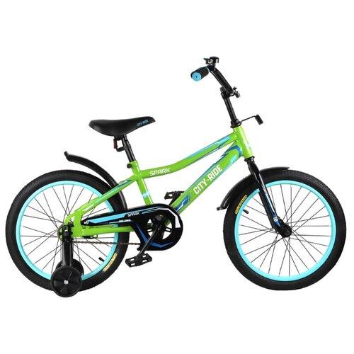 Детский велосипед CITY-RIDE Spark 18 (CR-B2-0218) зеленый (требует финальной сборки)