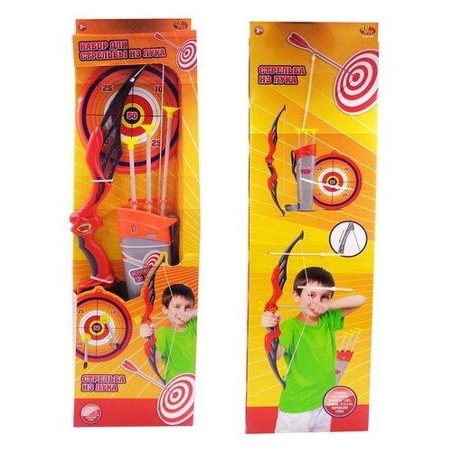 Фото - Лук ABtoys со стрелами на присосках, в наборе 3 стрелы, колчан (S-00158) игровой набор abtoys лук с прицелом s 00052 s 00053