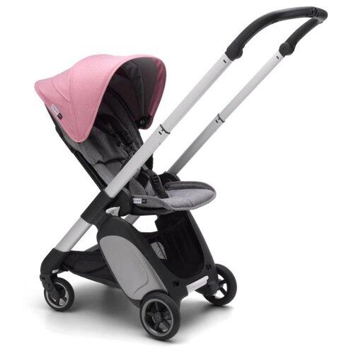 Прогулочная коляска Bugaboo ANT Alu/Grey melange/Pink melange, цвет шасси: серебристый