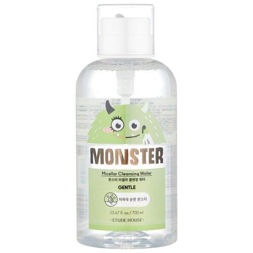 Etude House мицеллярная вода для снятия макияжа с экстрактом алоэ Monster Micellar Cleansing Water, 700 мл очищающая вода для снятия макияжа jeju sparkling cleansing water 510мл