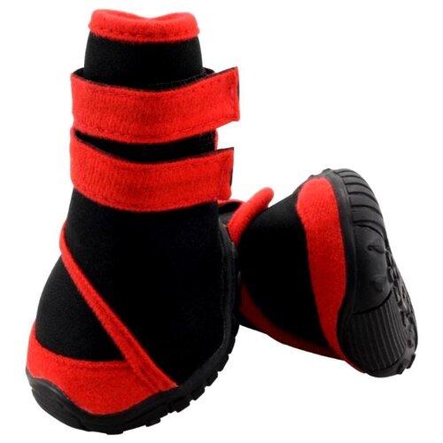 Фото - Ботинки для собак Triol 12241234/240 XXL черный / красный triol triol xxl подгузник для собак весом от 30 кг 10 шт