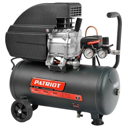 Компрессор масляный PATRIOT Professional 24-320, 24 л, 2 кВт компрессор масляный elitech кпм 360 25 25 л 2 2 квт