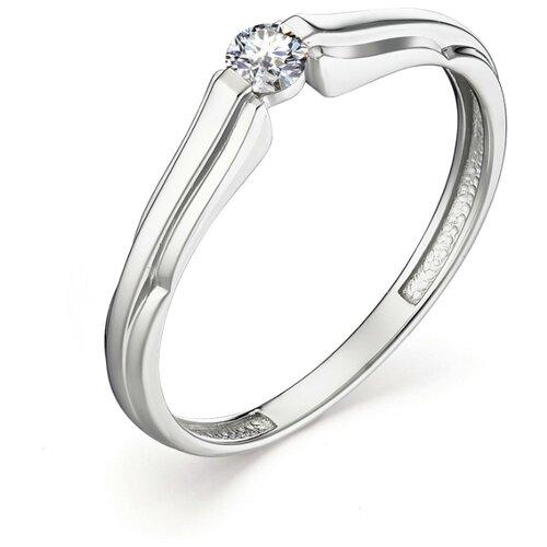 АЛЬКОР Кольцо с 1 бриллиантом из белого золота 13074-200, размер 17 алькор кольцо с 1 бриллиантом из белого золота 13299 200 размер 17