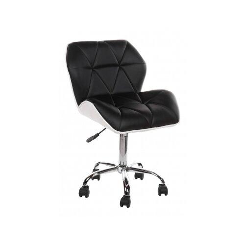 Фото - Компьютерное кресло Woodville Trizor офисное, обивка: искусственная кожа, цвет: черный/белый компьютерное кресло woodville rich офисное обивка искусственная кожа цвет коричневый