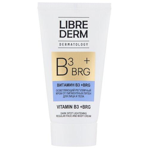 Librederm BRG + витамин В3 Осветляющий регулярный крем от пигментных пятен для лица и тела, 50 мл арохим крем от пигментных пятен