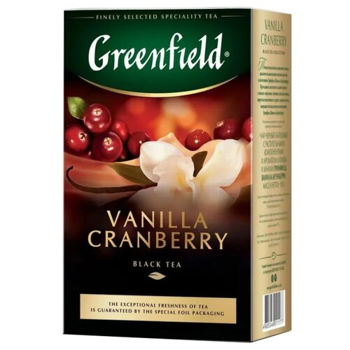 Чай черный Greenfield Vanilla Cranberry, 100 г greenfield english edition черный листовой чай 100 г