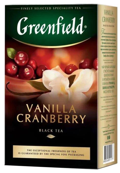 Чай черный Greenfield Vanilla Cranberry — купить по выгодной цене на Яндекс.Маркете