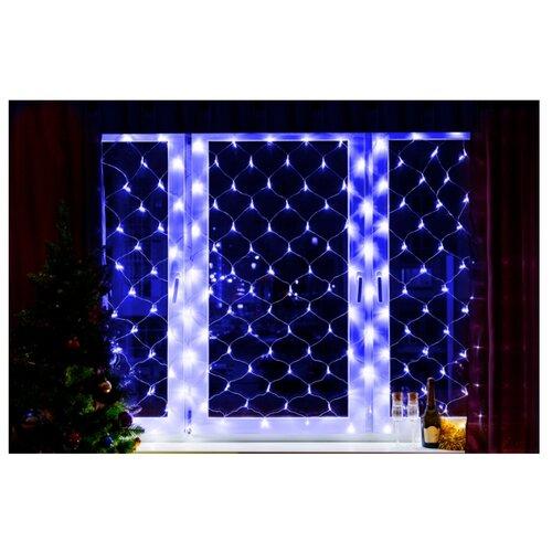 Гирлянда NEON-NIGHT Сеть, 180 LED, 180х150 см, 180 ламп, синий/прозрачный провод недорого
