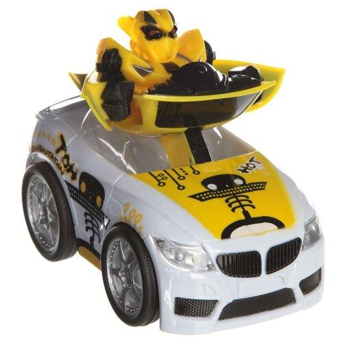 Робот-трансформер Zhorya Авто-робот ZYC-0858-4B желтый конструктор игрушечный zhorya робот вертолет