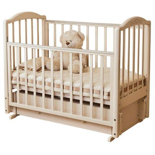 Купить Кроватка Красная Звезда Руслан С725 (классическая), универсальный маятник слоновая кость, Кроватки