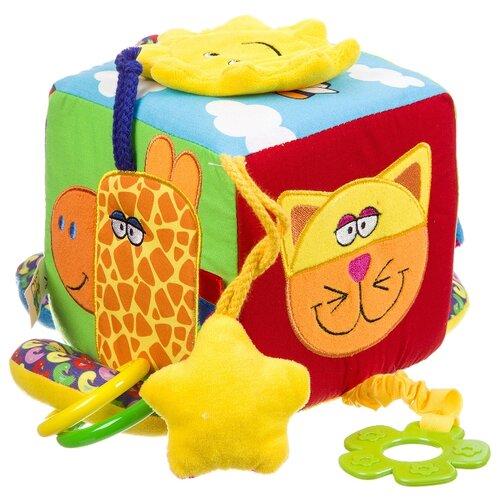 Купить Прорезыватель-погремушка BONDIBON Baby You Куб разноцветный, Погремушки и прорезыватели