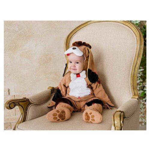Костюм Baby-suit Щенок (DK10.1), коричневый/белый, размер 62