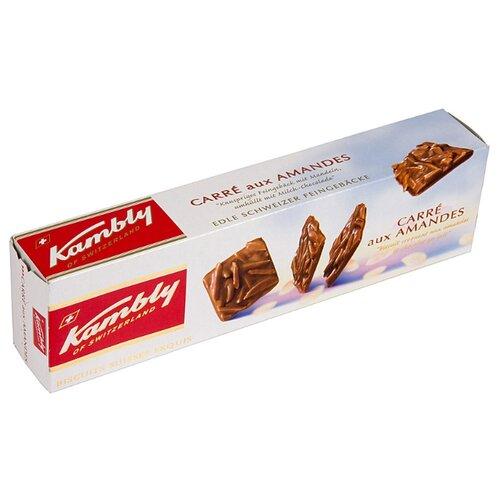 Печенье Kambly Carre aux amandes с миндалем и молочным шоколадом, 80 г lambertz world cookies munich печенье с шоколадом 100 г
