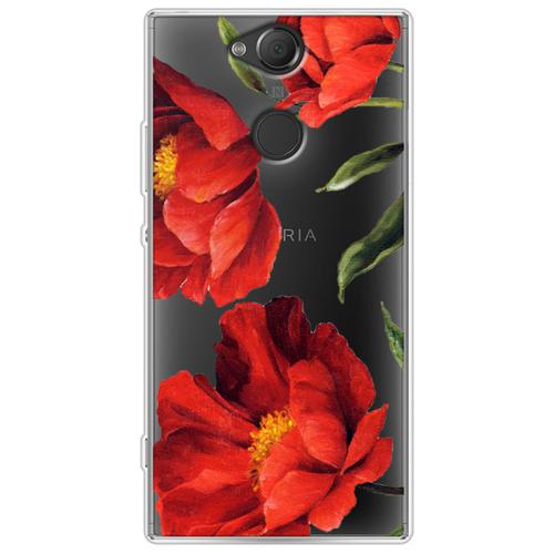 Силиконовый чехол Красные маки на Sony Xperia XA2 Plus