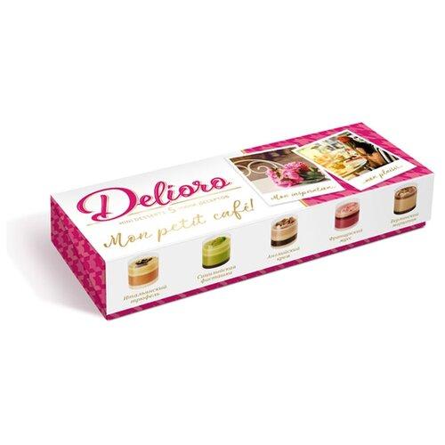 Набор конфет Delioro с ганашем и кремом 55г белый/розовый