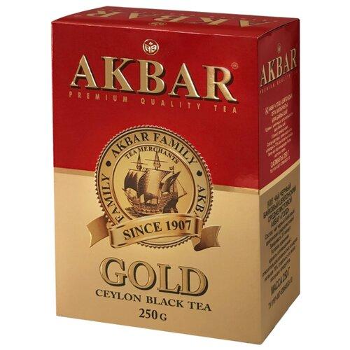 Чай черный Akbar Gold , 250 г чай akbar чай черный среднелистовой gold 250 г