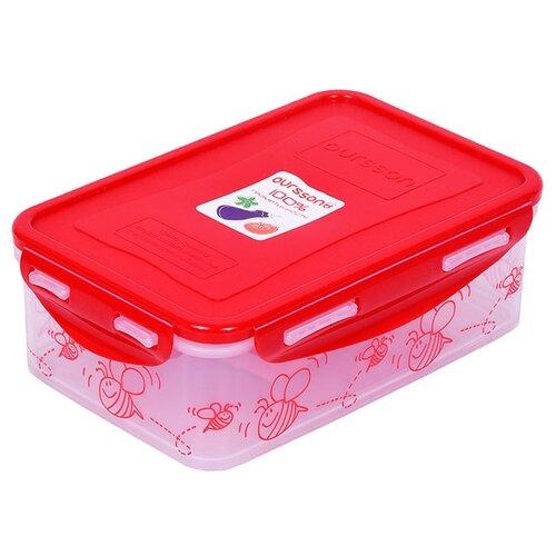 Фото - Oursson Контейнер CP1103S/CP1103-1S красный/прозрачный oursson контейнер cp1103s cp1103 1s оранжевый прозрачный
