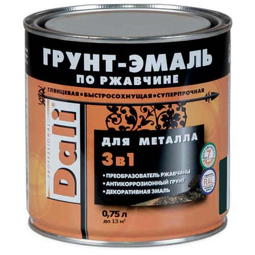 DALI по ржавчине 3-в-1 для металла зеленый мох (RAL 6005) 0.75 л отлив pe ral 6005 зеленый мох 60х2000 мм