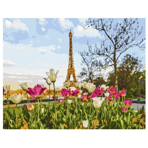 ВанГогВоМне Картина по номерам Тюльпаны в Париже, 40х50 (ZX 20112) картина по номерам вангогвомне рыцарский замок