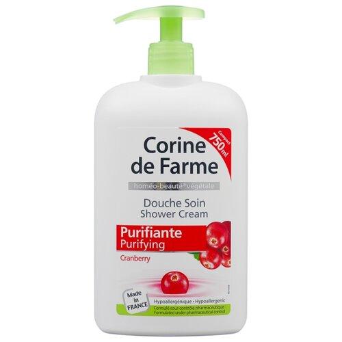 Гель для душа CORINE de FARME Клюква очищающий уход, 750 мл шампунь corine de farme купить