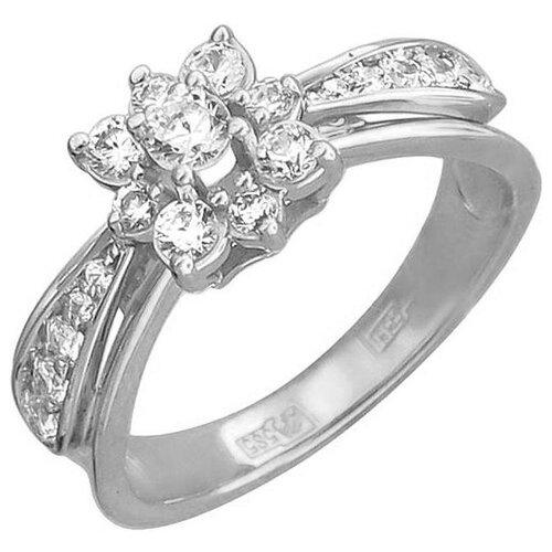 Эстет Кольцо с 19 фианитами из белого золота 01К126552, размер 20.5 эстет кольцо с 19 фианитами из белого золота 01к2210883 1 размер 18