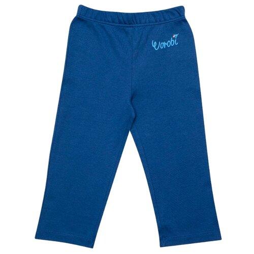 Купить Брюки Vorob'i Воробьи v19-14014 размер 80, синий, Брюки и шорты