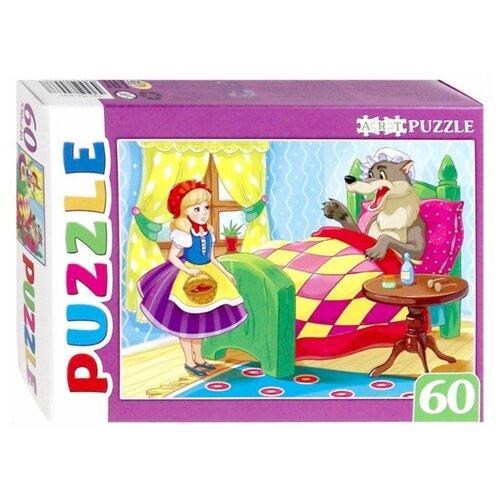 Пазл Рыжий кот Artpuzzle Красная шапочка (ПА-4533), 60 дет. пазл рыжий кот балеринка и лебедь пу60 7195 60 дет