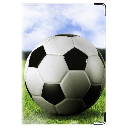 Обложка для паспорта MADAPRINT Футбол 100% натуральная овечья кожа
