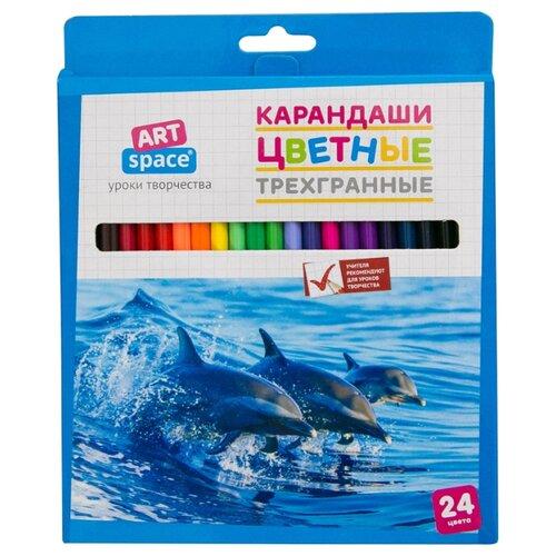 Купить ArtSpace Карандаши цветные Животный мир, 24 цвета (245926), Цветные карандаши