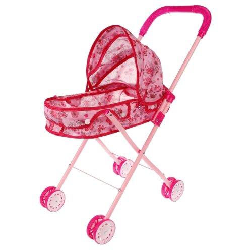 Коляска-люлька Наша игрушка Вальс M7502-5 розовый игрушка наша игрушка бульдозер 6655 5