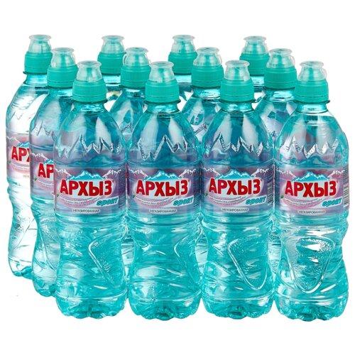 Природная ледниковая вода Архыз негазированная спорт, ПЭТ, 12 шт. по 0.5 л минеральная питьевая столовая вода легенда гор архыз негазированная пэт 1 5 л