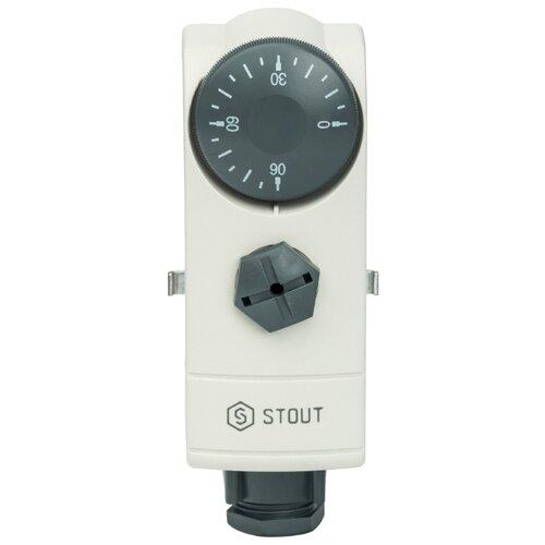 Терморегулятор STOUT WTC-ES белый терморегулятор stout ti n