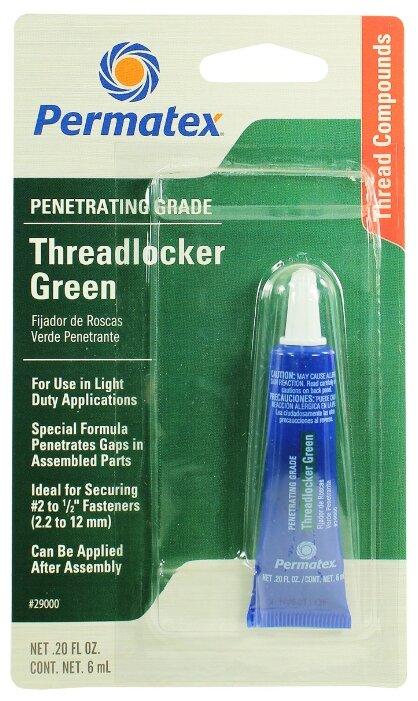 Фиксатор резьбовых соединений слабой фиксации разъемный PERMATEX Threadlocker Green 29000/29040