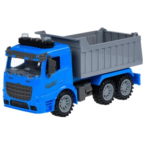 цена Грузовик Ya Hang Toys 98-611A 34 см синий/серый онлайн в 2017 году
