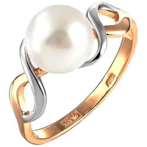 Фото - ПримаЭксклюзив Кольцо с 1 жемчугом из красного золота 190-1-985Р, размер 17 примаэксклюзив кольцо с 1 жемчугом из красного золота 190 1 921р размер 17