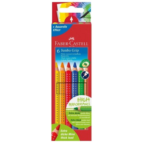 Купить Faber-Castell Цветные карандаши Jumbo Grip 6 цветов (110906)