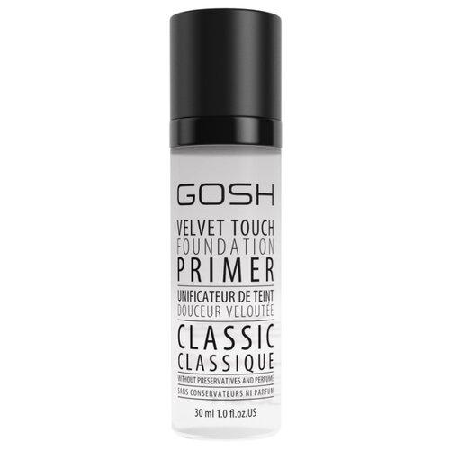 GOSH Основа для макияжа Velvet Touch Foundation Primer Classic 30 мл прозрачный gosh velvet touch apricot primer