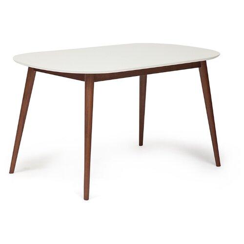 Стол кухонный TetChair Max, ДхШ: 140 х 80 см, белый/коричневый