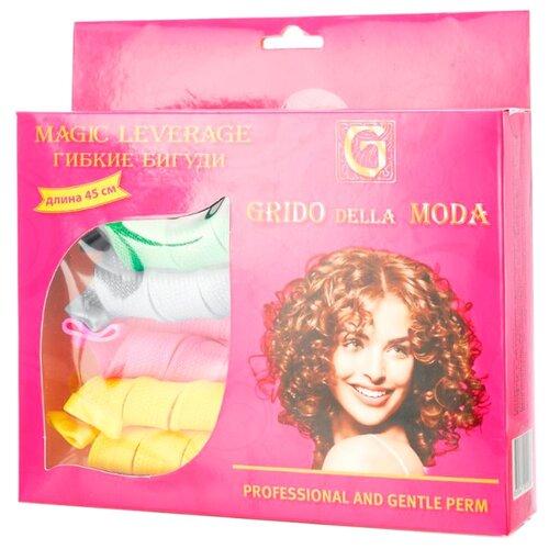 Гибкие бигуди Grido della Moda 3066647 18 шт. зеленый/голубой/желтый/розовый бигуди гибкие bradex франческа