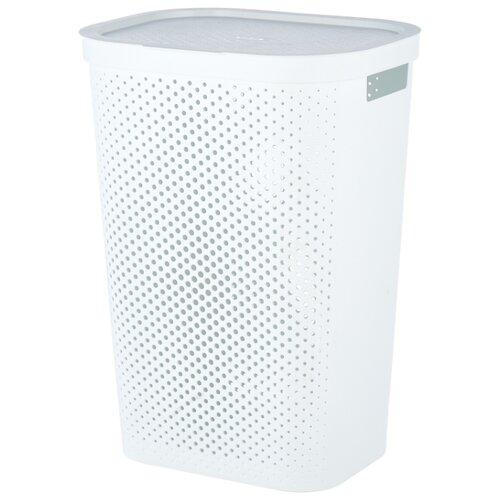CURVER Корзина для белья Infinity 60x44x35см белый laundry basket curver infinity 59 l gray