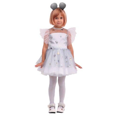 Костюм Батик Мышка Соня (2085 к-20), белый/серый, размер 128-64, Карнавальные костюмы  - купить со скидкой
