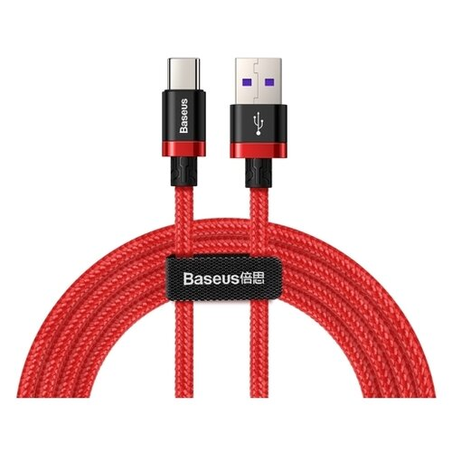 Кабель Baseus flash charge Huawei USB - USB Type-C (CATZH-A) 1 м red