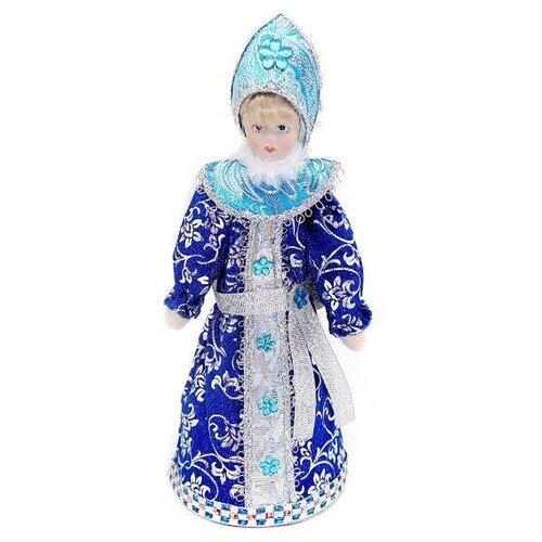Фигурка Новогодняя Сказка Снегурочка 20 см белый/синий фигурка снегурочка 5х7 см