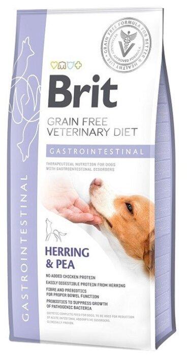 Корм для собак Brit Veterinary Diet при болезнях ЖКТ, сельдь с горошком 2 кг