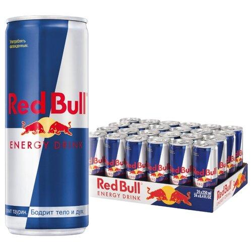 Энергетический напиток Red Bull, 0.25 л, 24 шт. энергетический напиток tornado energy active 0 45 л 12 шт