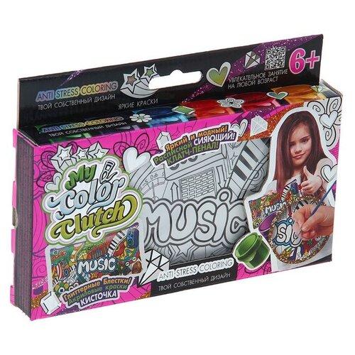 цена на Danko Toys Пенал-раскраска My Color Clutch Музыка (CCL-01-02)