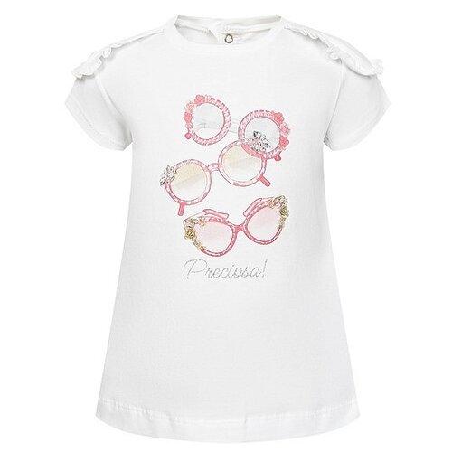 Купить Футболка Mayoral размер 92, белый/розовый, Футболки и рубашки